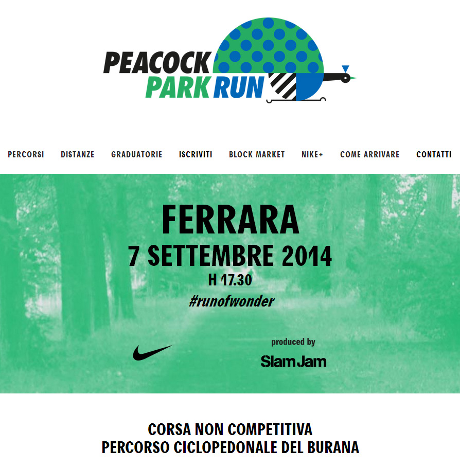 Peacock Park Run Ferrara