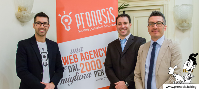 Andrea Saletti, Luca Bertelli e Davide Raimondi all'evento neuromarketing di Pronesis